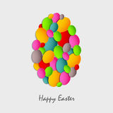 Easter card with abstract colored eggs. Vector eps 10 stock illustration