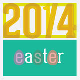 Easter card. Based on type play 20/4 2014 Royalty Free Stock Image