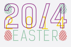 Easter card. Based on type play 20/4 2014 Royalty Free Stock Photography