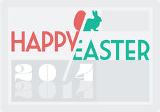 Easter card. Based on type play 20/4 2014 Stock Image