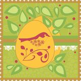 Easter card with a bird Royalty Free Stock Photography