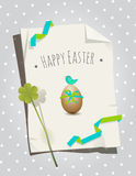 Easter card bird Stock Photo
