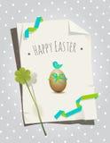 Easter card bird Stock Photo