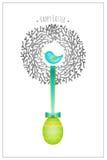 Easter card bird nest Stock Photo