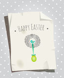 Easter card bird nest Stock Images