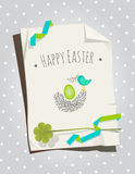 Easter card bird nest Royalty Free Stock Image