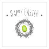 Easter card bird nest Royalty Free Stock Images