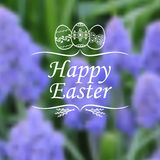 Easter card on blur spring background Stock Images