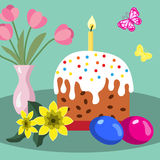 Easter card. Bright Easter card. Holiday still life Royalty Free Stock Photos