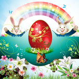 Easter card with bunny Royalty Free Stock Photos
