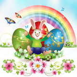 Easter card with bunny Royalty Free Stock Photo
