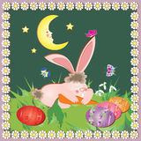 Easter card with bunny Stock Photo