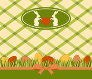 Easter card with bunny and eggs Royalty Free Stock Image