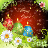 Easter card with butterflies Royalty Free Stock Images