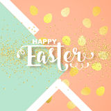 Easter card with calligraphic greeting Royalty Free Stock Photography