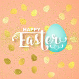 Easter card with calligraphic greeting Stock Image