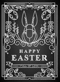 Easter card on the chalkboard. Royalty Free Stock Images