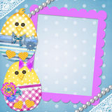 Easter card with a  chick Stock Photography