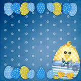 Easter card with a  chick Royalty Free Stock Photos