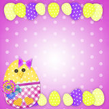 Easter card with a  chick Stock Photos