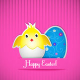 Easter card with chicken and egg Stock Photo