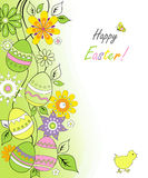 Easter card with chicken Stock Image