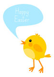 Easter card with chicken Royalty Free Stock Photography