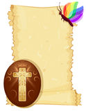 Easter card with Christian Cross Royalty Free Stock Photo