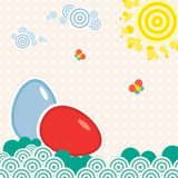 Easter card circles Stock Image