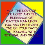 Easter card color triangles text. Stock Images