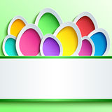 Easter card with colorful 3d egg Stock Photography