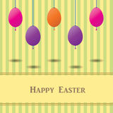 Easter card with colorful eggs Royalty Free Stock Images