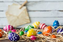 Easter card with eggs Stock Images