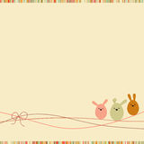 Easter card with copy space. EPS 8 Stock Photo