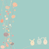 Easter card with copy space. EPS 8 Royalty Free Stock Photography