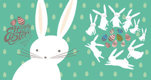 Easter card with cute bunnies. Royalty Free Stock Photo