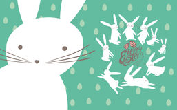 Easter card with cute bunnies. Royalty Free Stock Photos