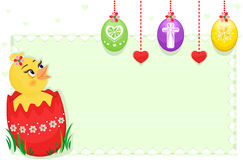 Easter card with cute chick Royalty Free Stock Images