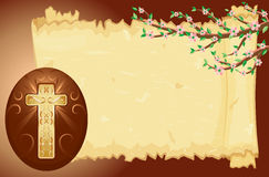 Easter card with decorated egg Royalty Free Stock Photo