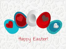 Easter card with decorated eggs Royalty Free Stock Image