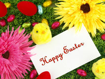 Easter card with decoration Stock Images