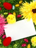 Easter card with decoration Royalty Free Stock Photo