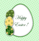 Easter card with decorative eggs Stock Images
