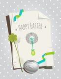 Easter card retro Stock Photos
