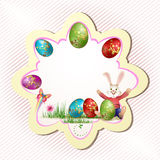 Easter card design Royalty Free Stock Image