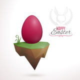 Easter card design Stock Images
