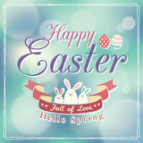 Easter card design. Template Vector Stock Photo