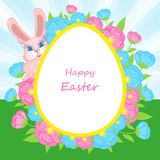 Easter card with Easter bunny Stock Image