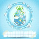 Easter card with Easter egg and copy space Royalty Free Stock Images