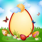 Easter card with Easter eggs . stock illustration
